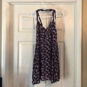 Dress in plum color